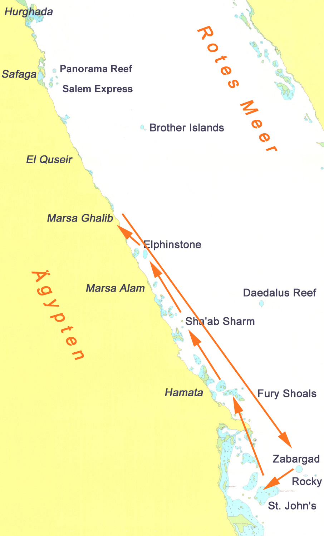 Ghalib - Zabargad - Rocky - St. Johns - Elphinstone - Ghalib